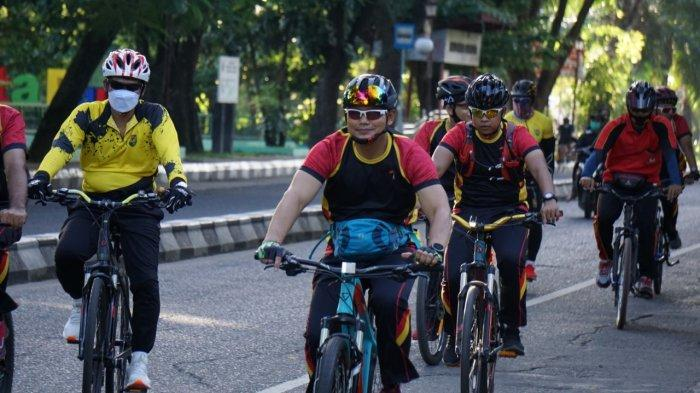 Aksi Dansat Brimob Kombes Pol Yudo Nugroho Gowes Bareng Jasdam II/SWJ, Keliling Palembang