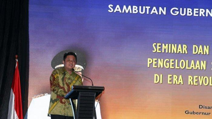 Gubernur Sumsel H Herman Deru yang menyerukan perlawanan terhadap kemiskinan pada saat sambutannya membuka Seminar dan Dialog Nasional dengan tema