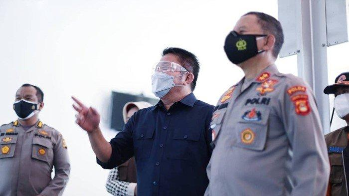 Gubernur Herman Deru Resmikan Selter Karantina Covid-19 Polda Sumsel