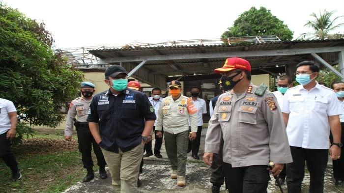 Tinjau SPN Betung Herman Deru Instruksikan Bangun Kembali Rumdin Polisi dan Rekonstruksi Resapan Air