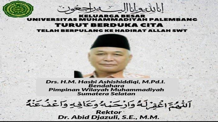 Dosen Muhammadiyah Palembang Hasbi Ashishiddiqi Meninggal Dunia saat Tausyiah Jelang Tarawih