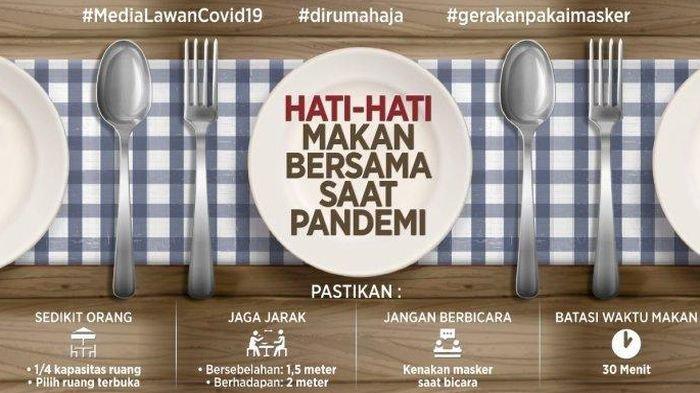 Kampanye Anti Covid-19: Hati-hati Makan Bersama Saat Pandemi Covid-19, Harus Perhatikan 5 Hal Ini
