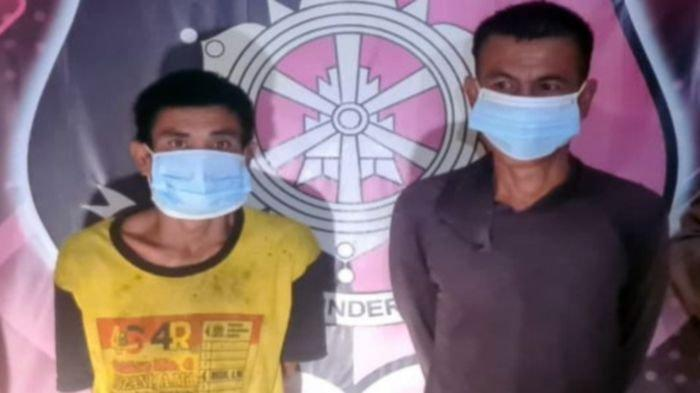 Dua Pria Ini Kepergok Petik Sawit Milik PT GSSL di Musirawas, Kini Diamankan di Polsek Muara Beliti