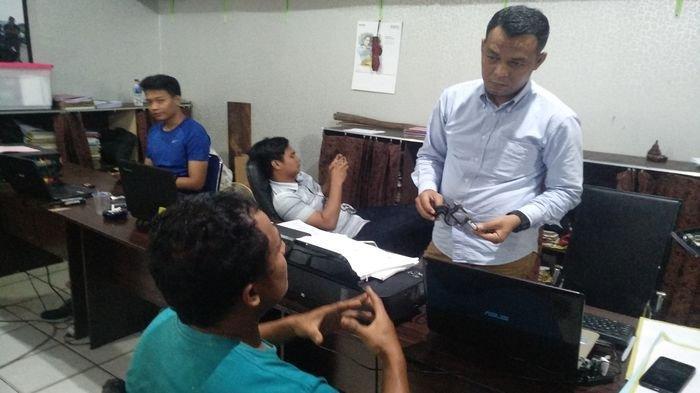 Patroli Rutin Sat Intelkam Polrestabes Palembang Amankan Tersangka Pemilik Senpi Berikut Amunisinya