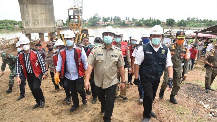 15 Tahun Mangkrak, Herman Deru Tuntaskan Jembatan Rantau Bayur di Banyuasin, Akhir 2021 Selesai