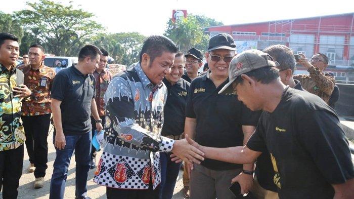 Gubernur Sumsel Herman Deru Hadiri Aksi Bersih-bersih Dalam Rangka HUT PT Pegadaian