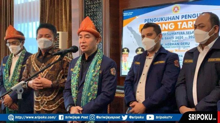 Gubernur Sumsel Herman Deru Kukuhkan Pengurus Karang Taruna Provinsi Sumsel Masa Bakti 2020-2025