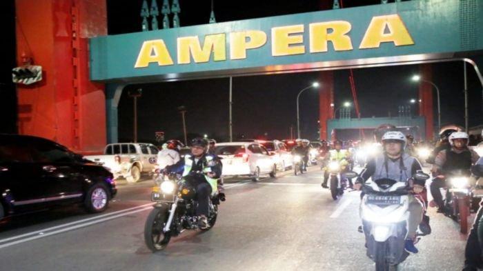 Jembatan Ampera tidak Ditutup di Malam Tahun Baru 2021