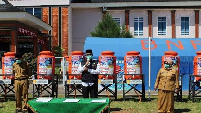 50 Hidran Umum dan 50 Alat Cuci Tangan Portabel Dibagikan untuk Seluruh Kecamatan di Musirawas