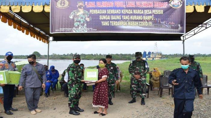 Lanal Palembang Berbagai Dengan Masyarakat Pesisir dan Pedalaman, Peringati HUT ke-75 TNI-AL