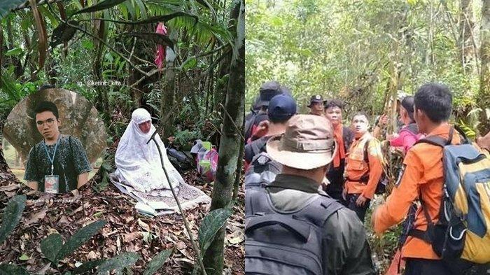 VIRAL Ibu Ini Sholat dan Panjatkan Doa di Dalam Hutan, Anaknya Hilang di Hutan Danau Kaco Kerinci
