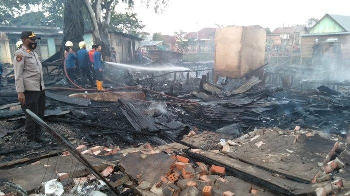Kebakaran di Ogan Ilir, Gara-gara Anak-anak Bermain Kayu Bakar Sembilan Rumah di Pemulutan Terbakar