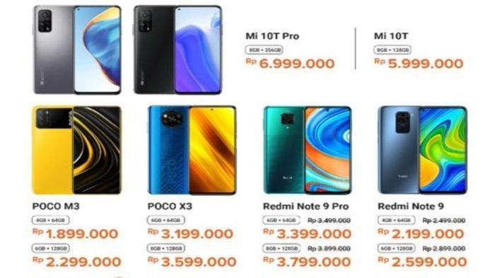 UPDATE Harga HP Murah di Palembang 6 Maret 2021, Ada Poco, Redmi dan Xiaomi, Harga Mulai Rp 1 Jutaan