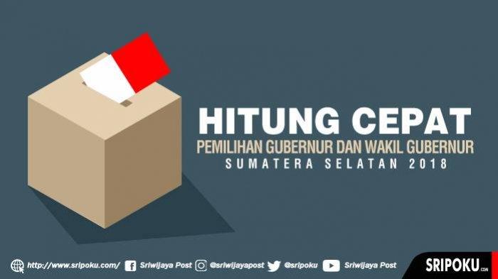 Update Terbaru Hasil Hitung Cepat Quick Count Pilkada Sumsel 2018, Herman Deru Masih Unggul