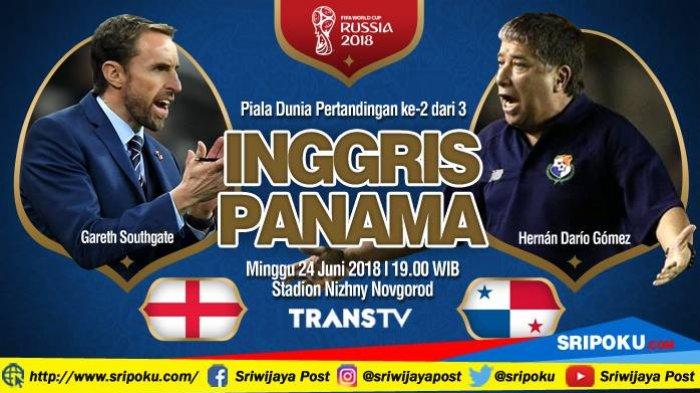Piala Dunia 2018, Jadwal Siaran Langsung dan Prediksi Pertandingan Inggris vs Panama