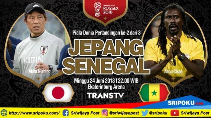 Piala Dunia 2018, Jadwal Siaran Langsung dan Prediksi Pertandingan Jepang vs Senegal