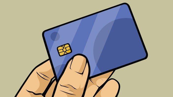 Ilustrasi kartu ATM dengan sistem chip.