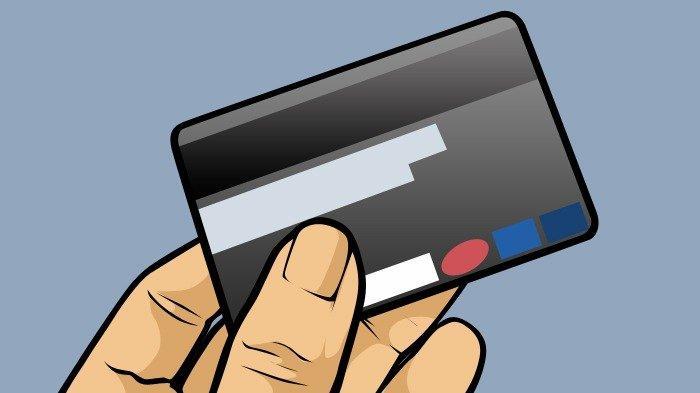 Ilustrasi kartu ATM dengan sistem magnetic stripe atau pita magnetik.