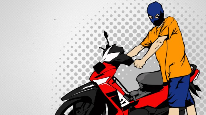 Akal Bulus Komplotan Pencuri Sepeda Motor di Ogan Ilir, Sebelum Dijual Ganti Warna Dengan Cat