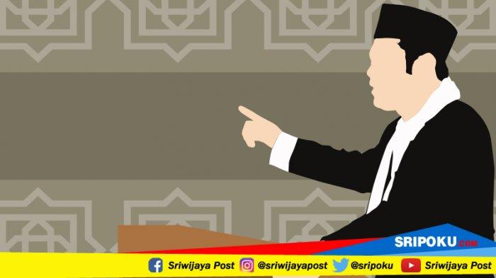 Paling Lama 15 Menit, Penceramah Sampaikan Tausiyah Sebelum Sholat Tarawih di Masjid Agung Palembang