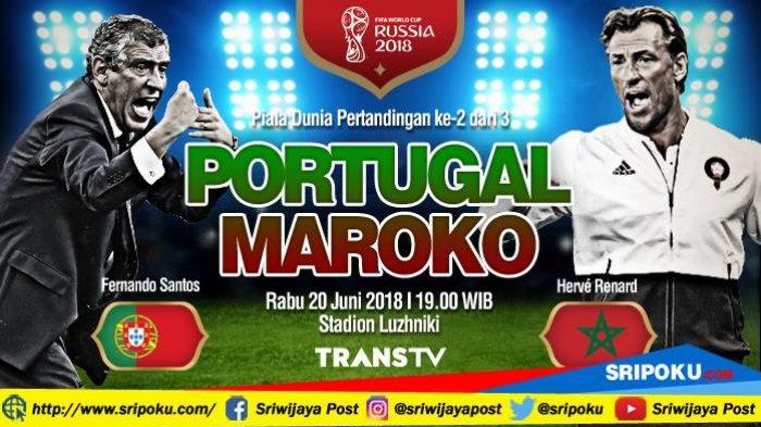 Piala Dunia 2018, Jadwal Siaran Langsung dan Prediksi Pertandingan Portugal vs Maroko