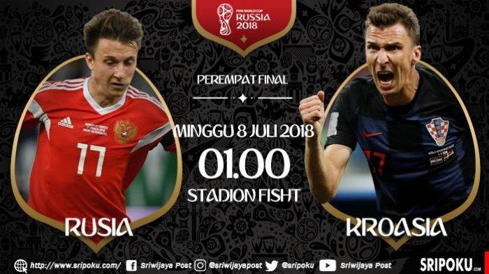 Babak Perempat Final Piala Dunia 2018, Ini Analisa dan Prediksi Duel Rusia vs Kroasia