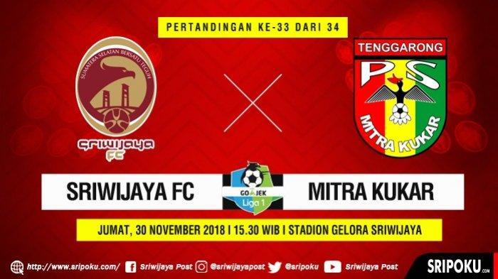 Sriwijaya FC lawan Mitra Kukar, Menang Atau Pilih Liga 2