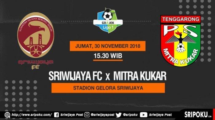 TV Online Link Live Streaming TV One Sriwijaya FC vs Mitra Kukar, Susunan Pemain dan Head to Head