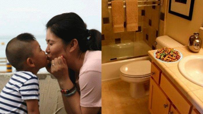 Ibunya Jadi Pembantu, Anak Ini Dipaksa Makan di Toilet. Lihat Sosis Itu Majikannya Malah Lakukan Ini