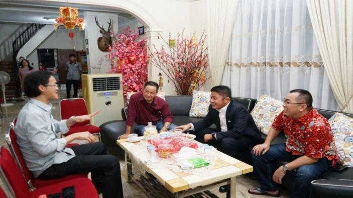 Tahun Baru Imlek 2571, Herman Deru Sanjoi Sejumlah Tokoh Tionghoa di Sumatera Selatan