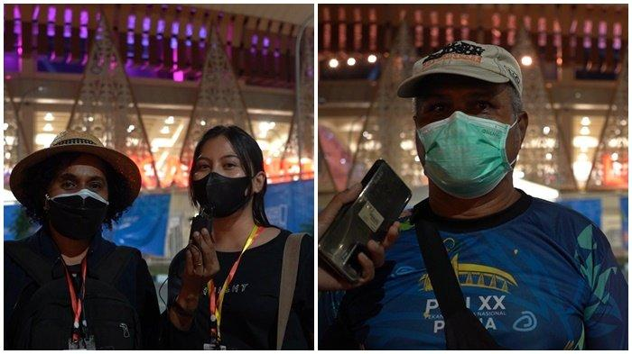 Inilah perwakilan warga yang menyaksikan kemewahan pembukaan PON XX Papua yang disumbangkan oleh PLN, diantara mereka yakni, Meskerorey, Bunga, dan Merlien Monim yang berucap PLN Sangat Sukses di PON XX Papua