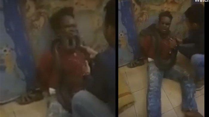 Viral Di Medsos, Biar Ngaku Polisi Lilitkan Ular Di Leher Pencuri Saat Interogasi