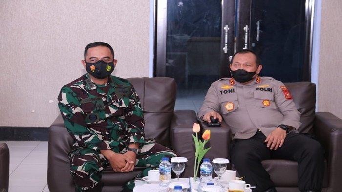 Jamin Sinergitas TNI-Polri, Kapolda Sumsel Silaturahmi ke Danlanud Sri Mulyono Herlambang Palembang