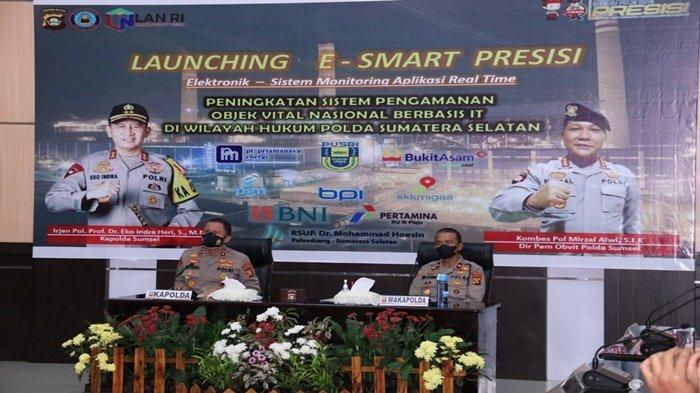 Kapolda Irjen Pol Eko Resmikan Program E-Smart Presisi Pengamanan Obvitnas Ditpamobvit Polda Sumsel