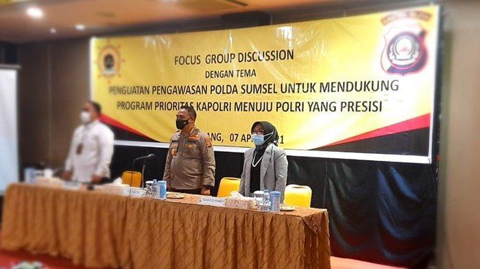 Irwasda Polda Sumsel Kombes Pol Drs Indra Gautama Msi Buka Focus Group Discussion Fungsi Pengawasan