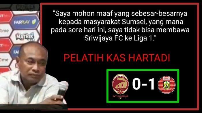 Fakta-fakta Sriwijaya FC Gagal Tembus Liga 1, Hingga Dinilai Kalah Strategi dan Fisik