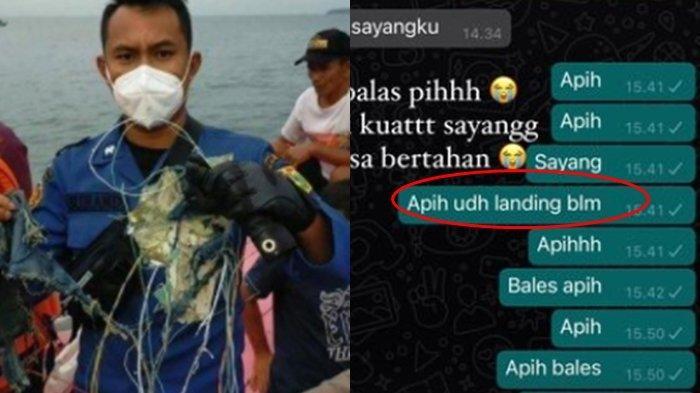 Baru Setahun Nikah, Istri Pramugara Sriwijaya Air SJ 182 Menangis, Pesan Tak Dibalas: Udah Landing?