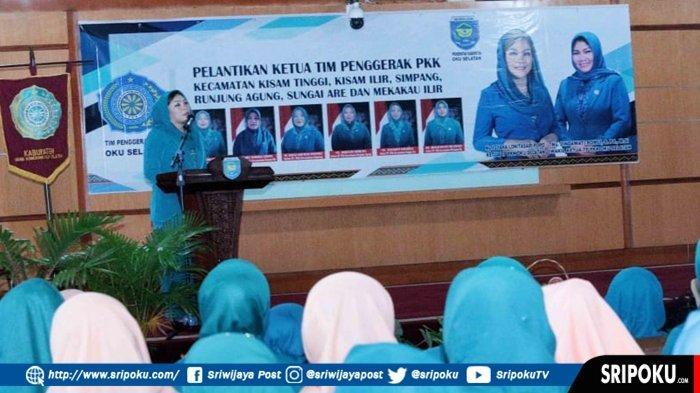 Isyana Lonetasari Lantik 6 Ketua TP PKK Kecamatan, Harapkan Sinergi Pembangunan di OKU Selatan