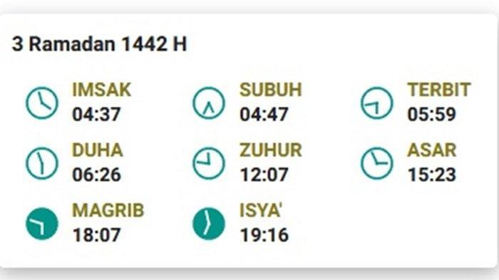 Jadwal Imsak dan Azan Subuh Serta Dhuha untuk Kota Prabumulih dan Sekitarnya Kamis (15/4/2021)