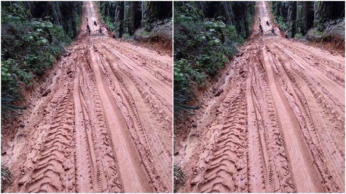 Beginilah Derita Kami, Hujan Deras Dalam Sepekan Bikin Beberapa Jalan di Muratara Susah Dilewati