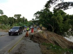 Awas Pemudik, Jalur Muaraenim - Simpang Meo Rawan Lonsor