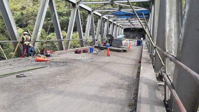 Pengerjaan Perbaikan Jembatan Endikat Capai 49 Persen, Ini Jadwal Penyelesaiannya