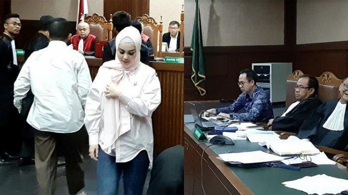 Jennifer Dunn (30) menghadiri sidang kasus Tindak Pidana Pencucian Uang (TPPU) atas terdakwa Tubagus Chaeri Wardhana alias Wawan.