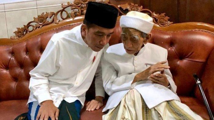Doakan Jokowi Saat Hadiri Undangannya, Kiai Haji Maemun Zubair Malah Sebut Prabowo Jadi Trending