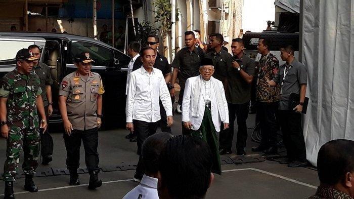 Momen Kebersamaan Jokowi dan Maruf Amin Sebelum Ditetapkan KPU Sebagai Presiden dan Wapres Terpilih