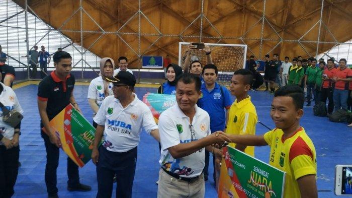 Dispopar Muba Launching Rekening Juara Atlet, 45 Club Ikuti Liga Futsal Muba