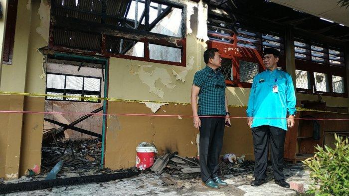 SMP Negeri 26 Palembang Terbakar, Kerugian Capai Rp300 Juta Aktifitas Belajar Mengajar Tetap Jalan