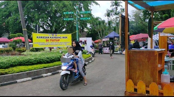 Berdalih Tak Tahu Ada Larangan Pedagang Masih Berjualan di Kambang Iwak Palembang, Rugi Kalau Pulang