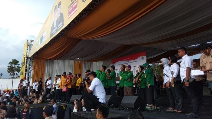 Grup Band Wali Bius Ribuan Pengunjung Kampanye Akbar Paslon Nomor 4, Musi