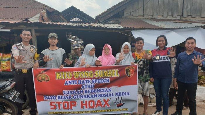 Sebarkan Berita Hoax Diganjar Hukuman 4 Tahun Penjara, Polres Banyuasin Sosialisasikan Stop Hoax